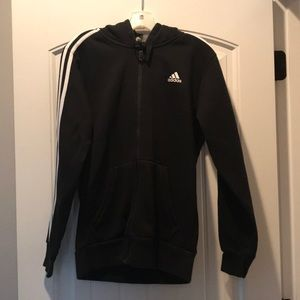 Adidas zip up hooded sweatshirt